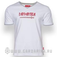 """ГАРДАРИКА С МЕЧОМ"" ФУТБОЛКА С ВЫШИВКОЙ"