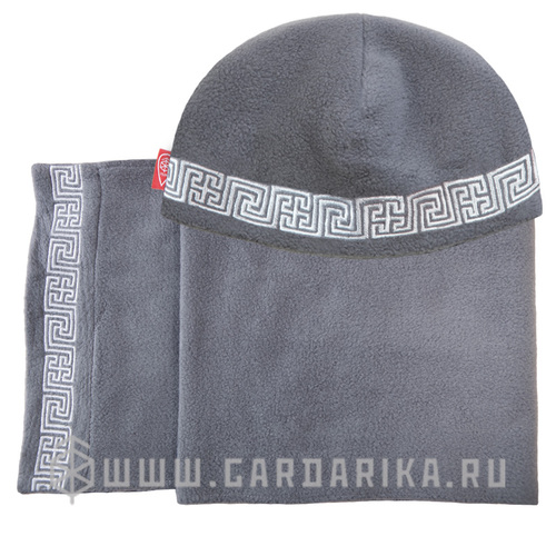 "КОМПЛЕКТ ""РЫСИЧ"": ШАПКА + ШАРФ 150 СМ."
